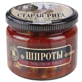 Smoked Sprats in Tomato Glass 250g