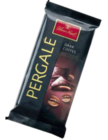 "Dark Chocolate ""PERGALĖ"" With Coffee Filling 100gr"